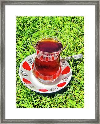 about LOVE. Turkish tea. Framed Print