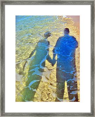 about LOVE.  Water. Sand. Air. Fire. Framed Print by Andy Za