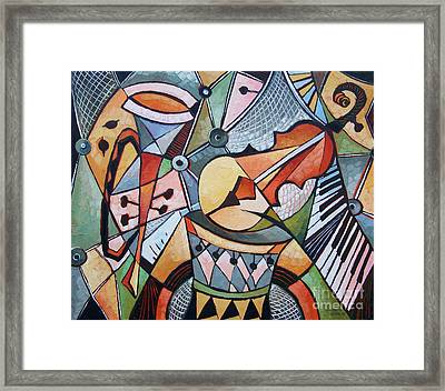 About Music N22 Framed Print by Elizabeth Elkin