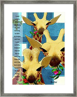 About My Neck Framed Print by Tom Dickson