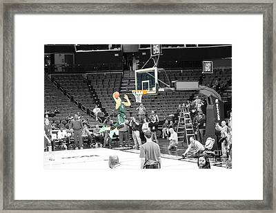 About To Dunk Framed Print by Robert Yaeger