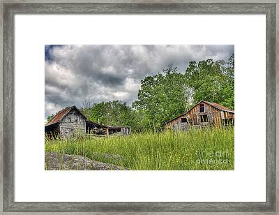 About To Storm Framed Print