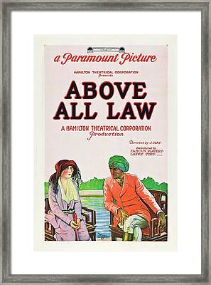 Above All Law Framed Print by Paramount