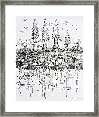 Above And Below - Land And Sea Framed Print by Podge Elvenstar