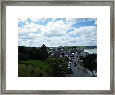 Above Arromanches-les-bains Framed Print