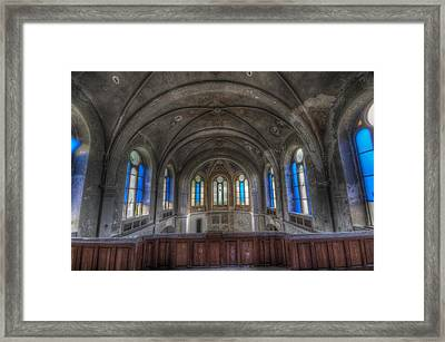 Above Blue Framed Print by Nathan Wright
