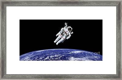 Above Earth Framed Print