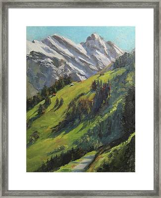 Above It All Plein Air Study Framed Print by Anna Rose Bain