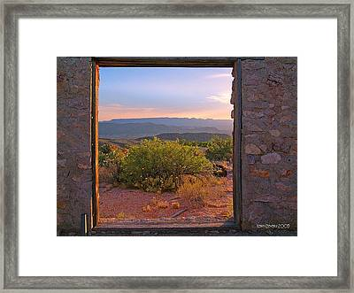 Above Lajitas Framed Print