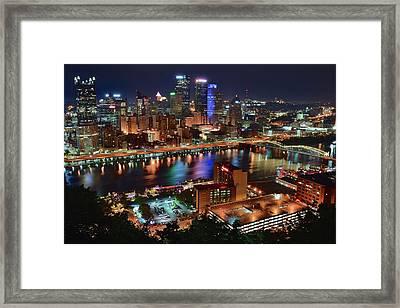 Above Pittsburgh 2017 Framed Print