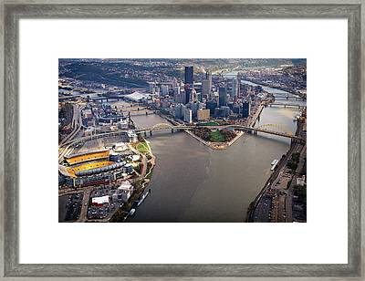 Above Pittsburgh In  Color  Framed Print