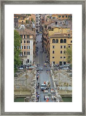 Above Ponte Sant'angelo Framed Print by JAMART Photography