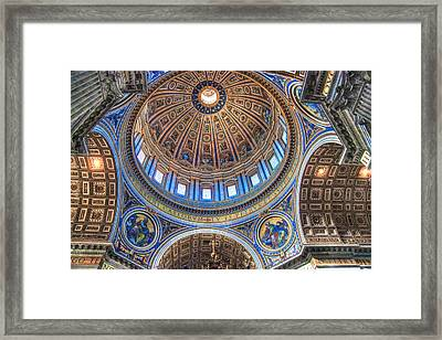 Above Saint Peters Framed Print