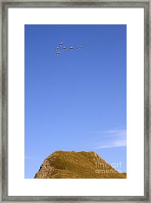 Above The Alps Framed Print
