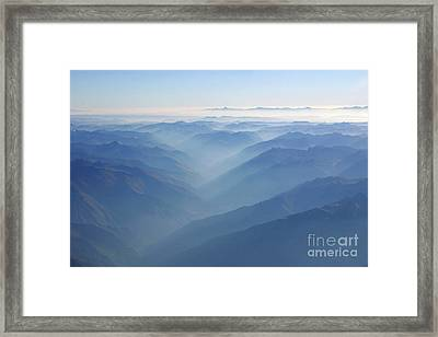 Above The Andes Framed Print by Matt Tilghman