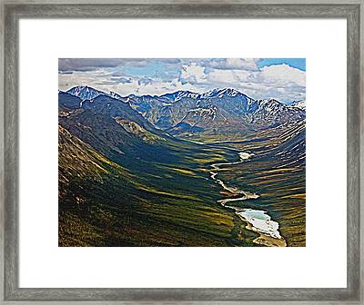 Framed Print featuring the painting Above The Arctic Circle by John Haldane