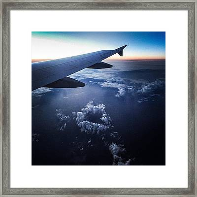 Above The Clouds 02 Heart Cloud Framed Print