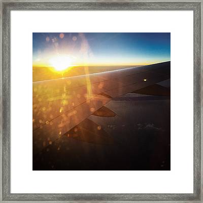 Above The Clouds 03 Warm Sunlight Framed Print