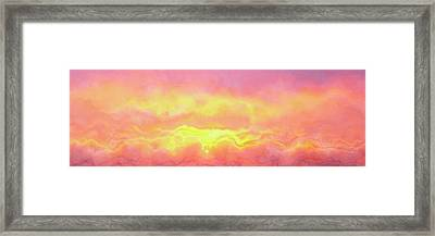 Framed Print featuring the mixed media Above The Clouds - Abstract Art by Jaison Cianelli