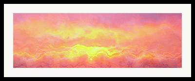 Sunset Abstract Mixed Media Framed Prints