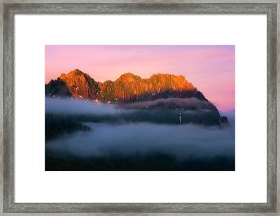 Above The Clouds Framed Print