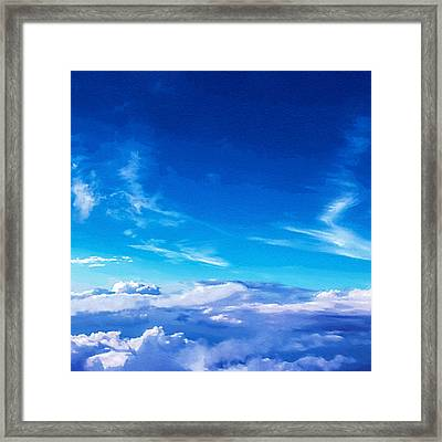 Above The Clouds Sky Is Always Blue Framed Print by Mari Biro