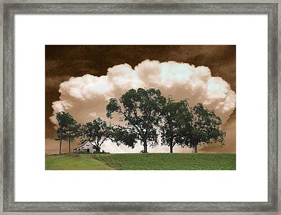 Above The Cotton Fields Framed Print by Jan Amiss Photography