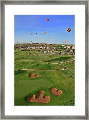 Above The Course Framed Print
