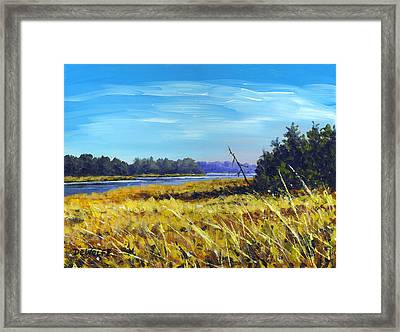 Above The Dam Sketch Framed Print by Richard De Wolfe