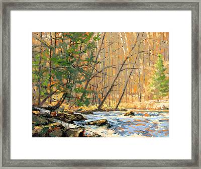 Above The Falls Framed Print by Larry Seiler