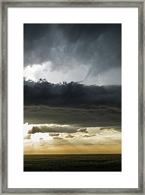 Above The Filament Framed Print