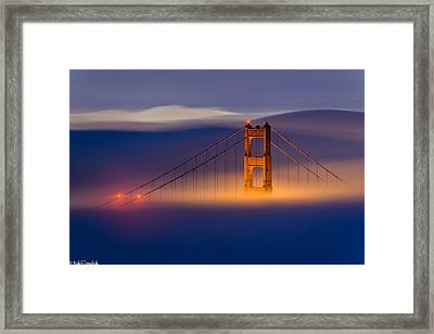 Above The Fog Framed Print