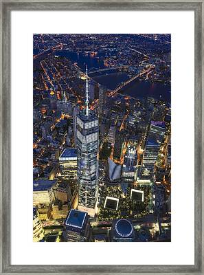 Above The Freedom Tower Wtc Framed Print by Susan Candelario