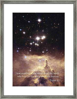 Above The Heavens Framed Print by Michael Peychich