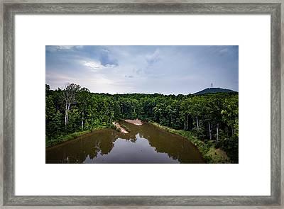 Above The Lake Framed Print