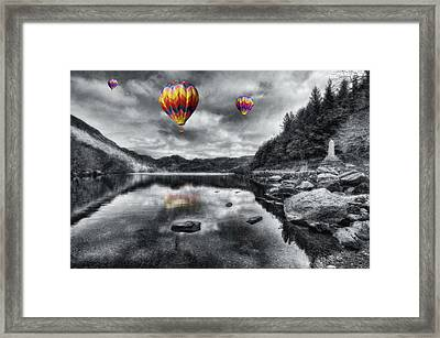 Above The Lake Framed Print