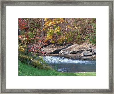 Above The Mill Framed Print by Art Tilley