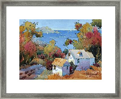 Above The Pacific Framed Print