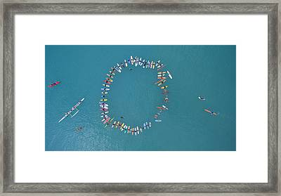 Above The Paddle-out Framed Print by David Levy