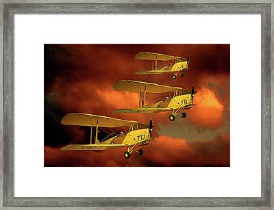 Above The Red Skys Framed Print