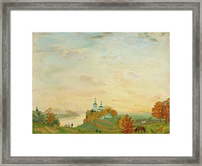 Above The River Autumn Framed Print