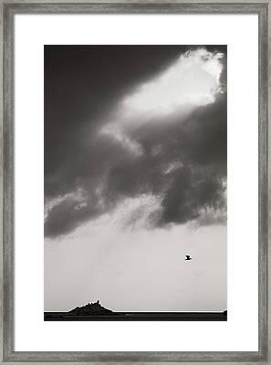 Above The Sea Framed Print by Konstantin Dikovsky