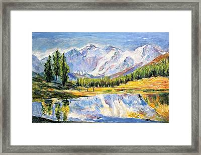 Above The Sea Level Framed Print