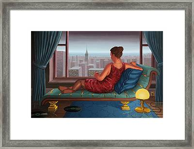 Above The Storm Framed Print by Justin Lewis