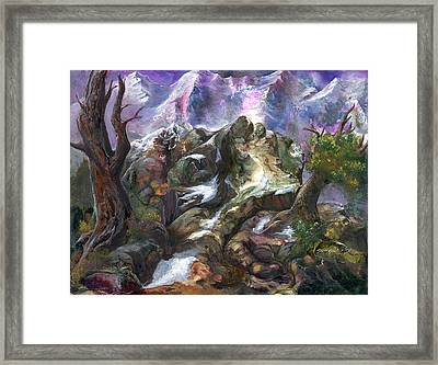 Framed Print featuring the painting Above The Timberline by Sherry Shipley