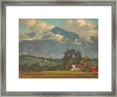 Above Toporowski Farm Framed Print