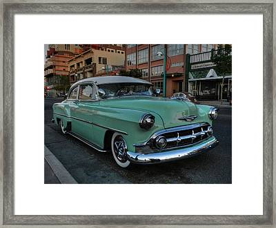 Abq - '53 Chevy Framed Print by Lance Vaughn