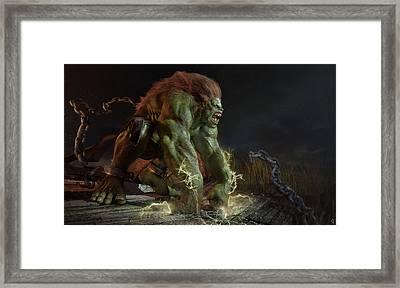 Abraao Segundo Monster Green Hair Chains Irons Discharge 94534 4096x2437 Framed Print