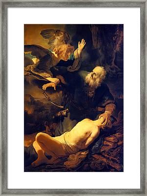 Abraham And Isaac Framed Print