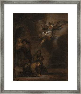 Abraham And The Angel Framed Print